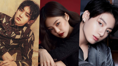 Jennie, V, Jungkook, Jimin, SUGA, Chanyeol, IU, Psy, Sunmi