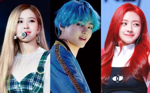 G-Dragon, BLACKPINK, Rose, BTS, V, Jimin, Jin, SUGA, RM (Rap Monster), EXO, Suho, Baekhyun, (G)I-DLE, Soojin, Taeyeon, ITZY, Ryujin, Yuna, NCT, Jaemin, Red Velvet, Irene, Joy, Seventeen, Junghan, TXT, Yeonjun, WINNER, Song Min Ho (Mino)