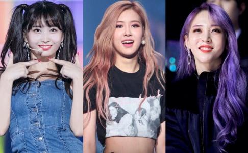 BLACKPINK, Rose, Jo Seung Woo, MAMAMOO, Moon Byul, TWICE, Momo