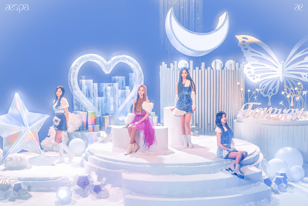 Image result for aespa watch the winter snow in 'Forever' MV