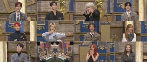 Bomi, Moonbin, Minhyuk, Doojoon, ITZY, Yeji, Lia, Jun Hyun Moo, Jeno, Seunghee, Minho, Hyunjin, Leeteuk, The Boyz
