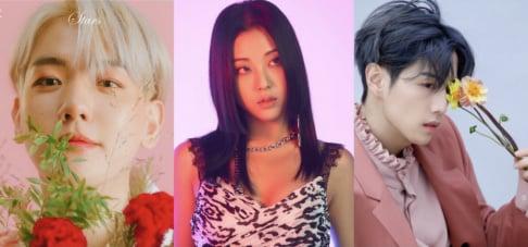 Suhyun, Sorn, Seungyeon, Baekhyun, Mark (GOT7), Solar, NCT, Ryeowook, Henry