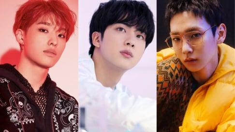 BTS, Jin, EXO, Baekhyun, P1Harmony, SHINee, Key, Taemin, TXT, Taehyun, Son Dong Pyo