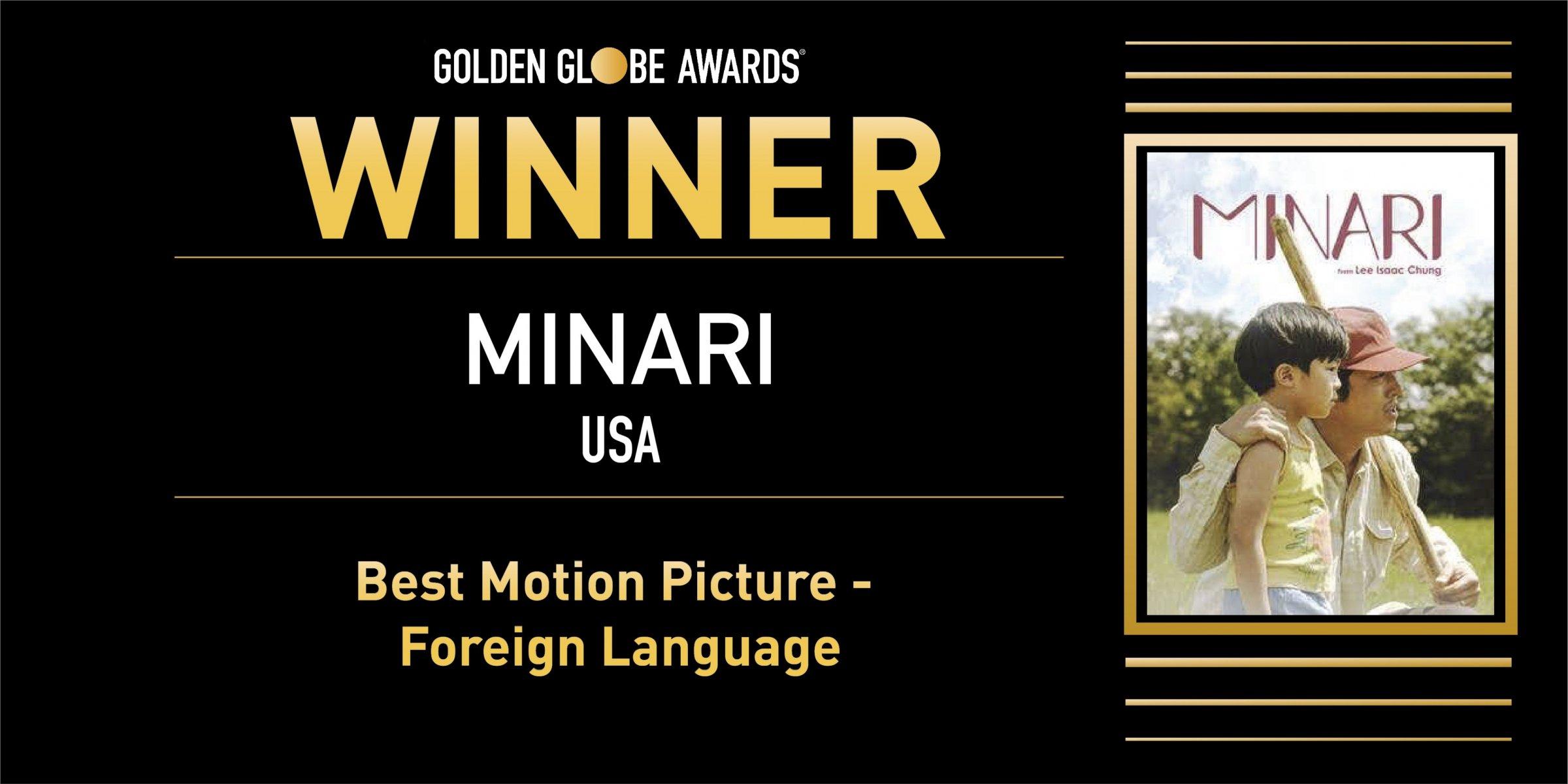 Minari Wins Best Foreign Language Film At The 2021 Golden Globe Awards Allkpop