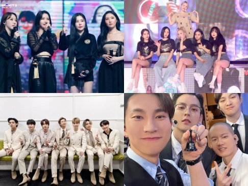 BTOB, BTS, GFriend (Girlfriend), MAMAMOO