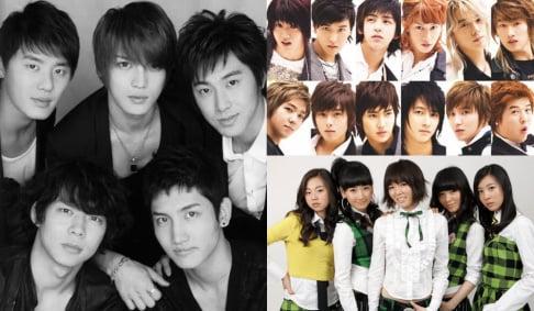 EXO, Jay Park, JYJ, Junsu (XIA), Jaejoong, Yoochun, KARA, Hara, Jiyoung, Sunmi, Super Junior, TVXQ, WINNER, Wonder Girls, 2PM, HyunA