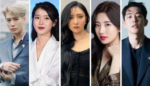 GOT7, Jackson, IU, MAMAMOO, Hwa Sa, Suzy, Nam Joo Hyuk