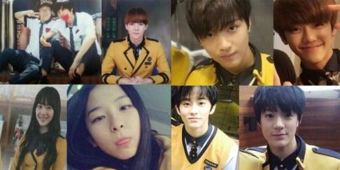 Sehun, Kai, Sulli, Taeyong, Jeno, Jaehyun, Mark, Haechan, Jaemin, Seulgi, Joy