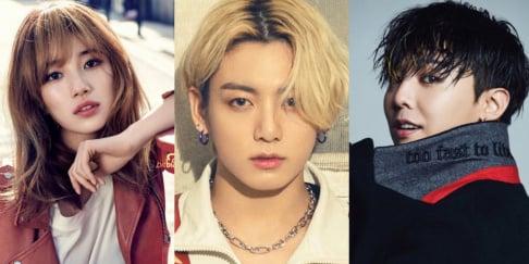 Karina, G-Dragon, Jennie, Jungkook, Kai, Ryujin, Suzy, Taeyong, Nayeon