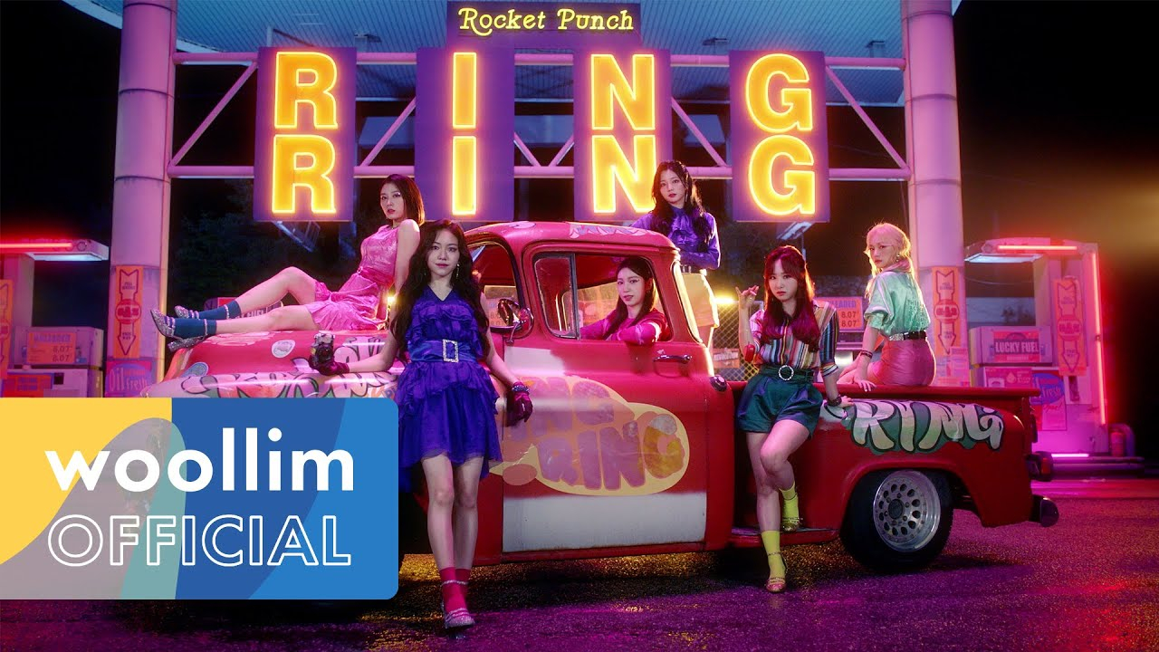 Rocket Punch go on a retro night out in 'Ring Ring' MV teaser | allkpop