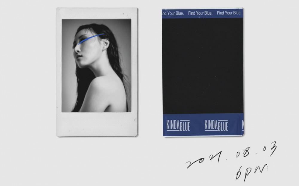 "KINDA BLUE and Hwa Sa unveil the lyric teaser image for ""I Can't Make You  Love Me"" | allkpop"