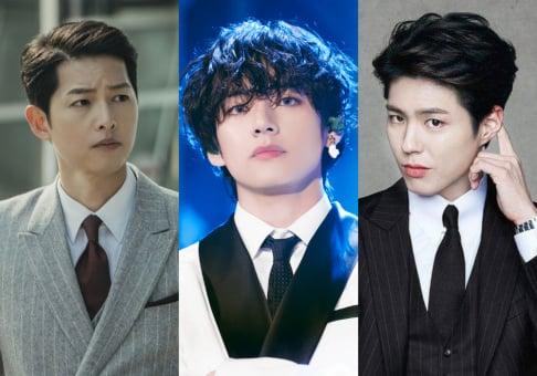 Cha Eun Woo, BTS, V, Gong Yoo, Hyun Bin, Kwak Dong Yeon, Lee Jong Suk, Park Bo Gum, Park Seo Joon, Song Joong Ki , Taecyeon
