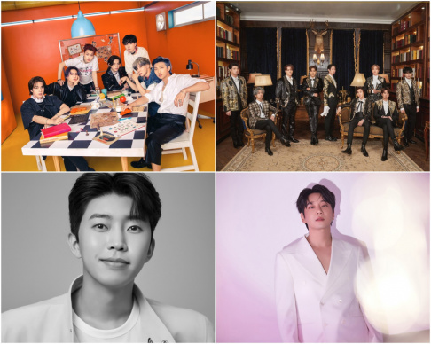 BTS, Hwang Chi Yeol, Lim Young Woong, Super Junior