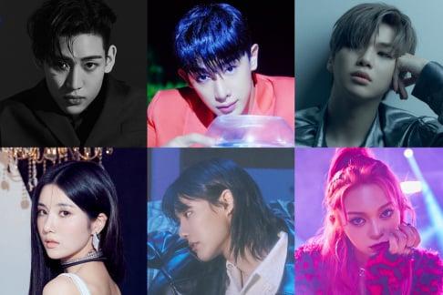 AleXa, BamBam, Kwon Eun Bi, Wonho, Kang Daniel, Jo Seung Youn