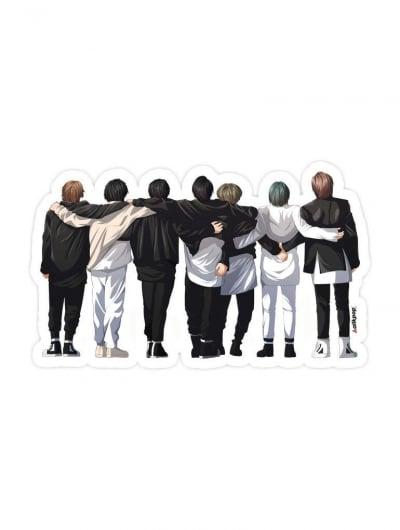 BTS HUG Sticker - $3