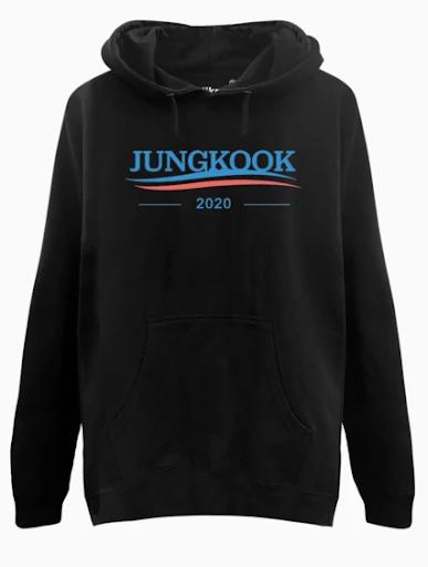 Vote Jungkook Hoodie - $35