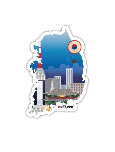 Korea Map Sticker - $3