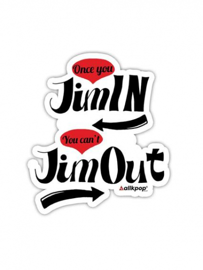 Jimin out Sticker - $3