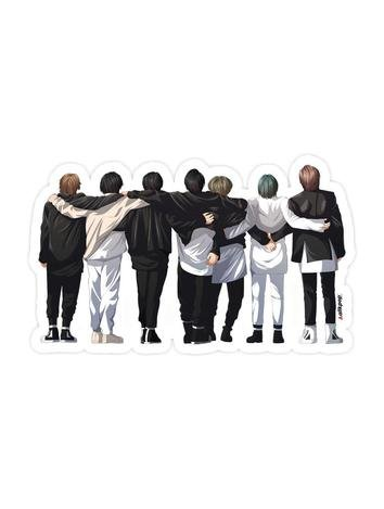 BTS Hug Sticker - $3